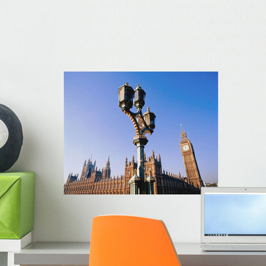 Houses Of Parliament And Street Lamp Wall Mural