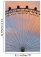 The London Eye At Dusk, Close Up Wall Mural