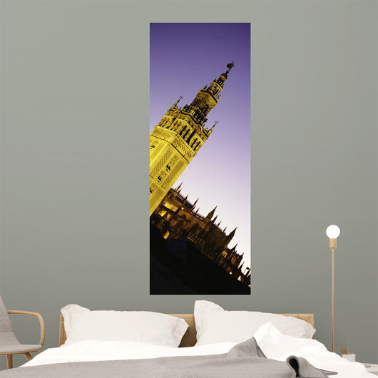 La Giralda Bell Tower At Dusk Wall Mural