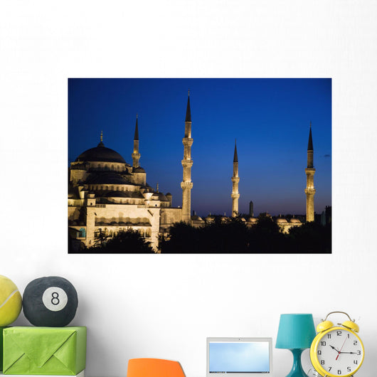 Blue Mosque At Dusk Wall Mural