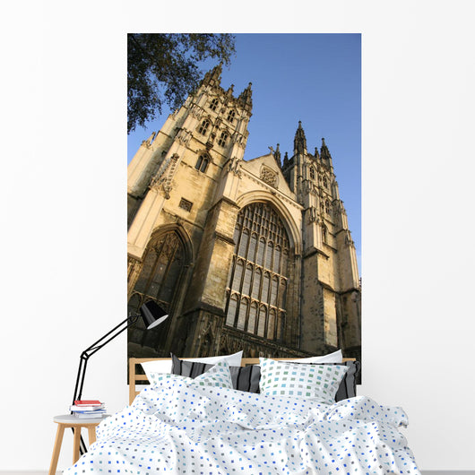 Canterbury Cathedral, Low Angle View Wall Mural