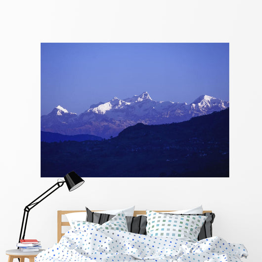 View Of The Himalayas Wall Mural