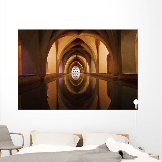 Bath Of Dona Maria De Padilla At Alcazar Wall Mural