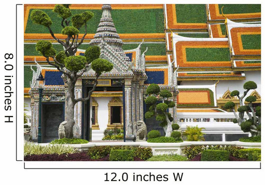 Detail Of Gardens And Temple In Royal Palace Complex Wall Mural