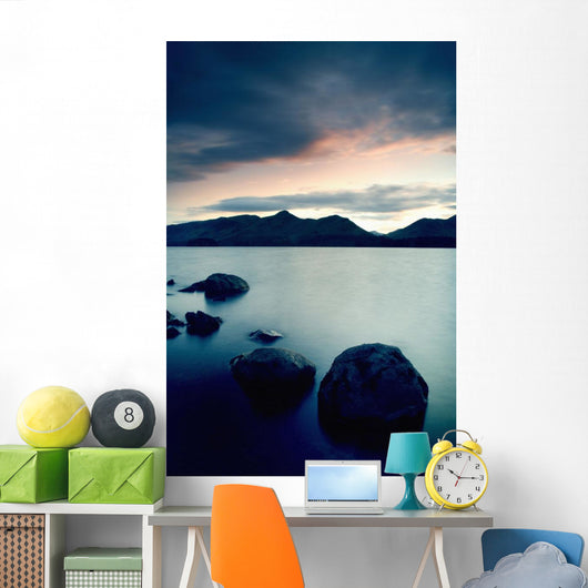 Derwent Water With Catbells At Sunset Wall Mural