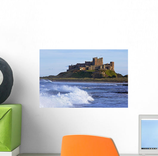 View From Ocean Of Bamburgh Castle Wall Mural