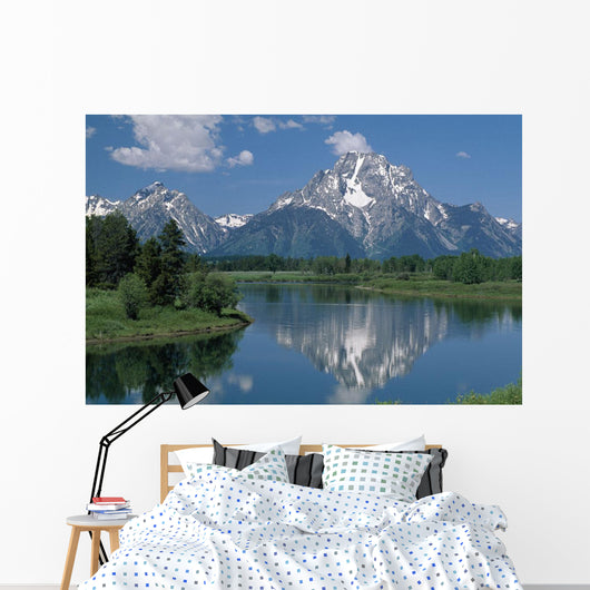 Mount Moran And Snake River Wall Mural
