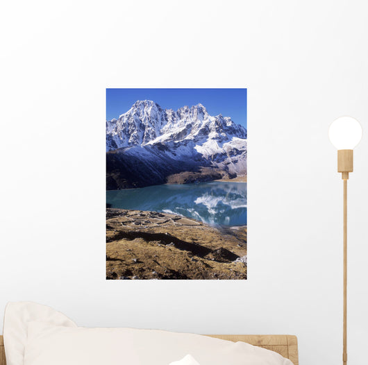 Gkyo Lake And Snowcapped Mountain Wall Mural