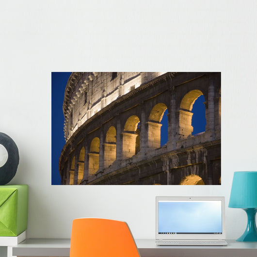 View Of The Roman Coliseum In Rome Wall Mural