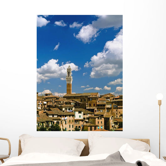 Torre De Mangia And Siena Skyline Wall Mural