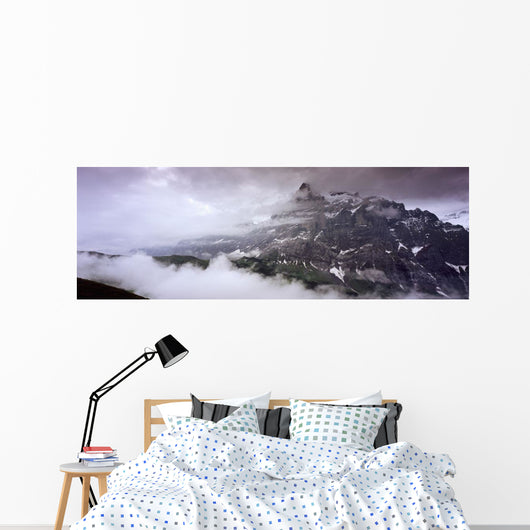 Summit Of Eiger Mountain Near Grindelwand In Bernese Alps Wall Mural