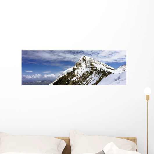 Summit Of Monch Mountain In Bernese Alps Wall Mural