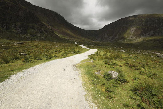 Lone Person Walking On A Path Leading Up To Mahon Falls Wall Mural