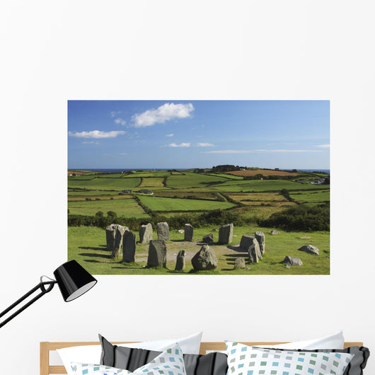 Drombeg Stone Circle Near Glandore In West Cork In Munster Region Wall Mural