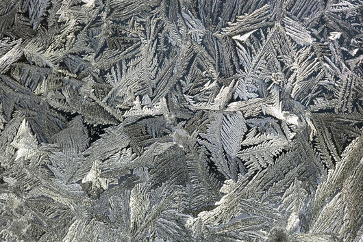 Frost Crystals On A Window Wall Mural