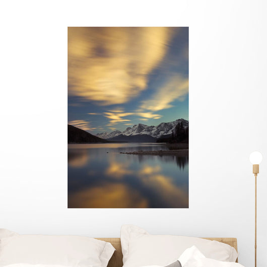 The Upper Lake At Sunset Wall Mural