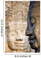Profile Of Avalokiteshvara Statue From Bayon Temple Wall Mural