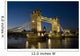 Tower Bridge Illuminated At Night, London,England,Uk Wall Mural