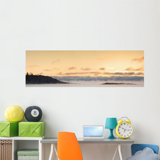 Winter Mist On Lake Superior At Sunrise Wall Mural
