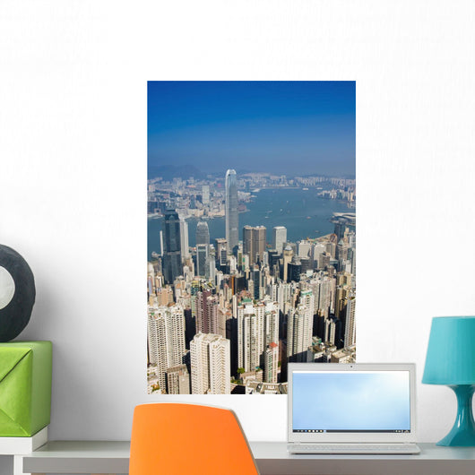 Cityscape With Harbour Wall Mural