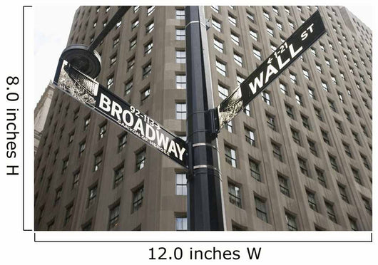 Signs For Broadway And Wall Street Wall Mural