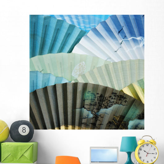 Decorative Fans Wall Mural