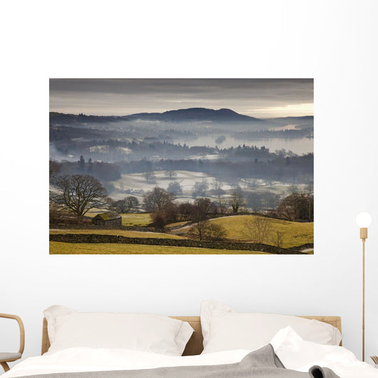 Fog Over The Landscape Wall Mural
