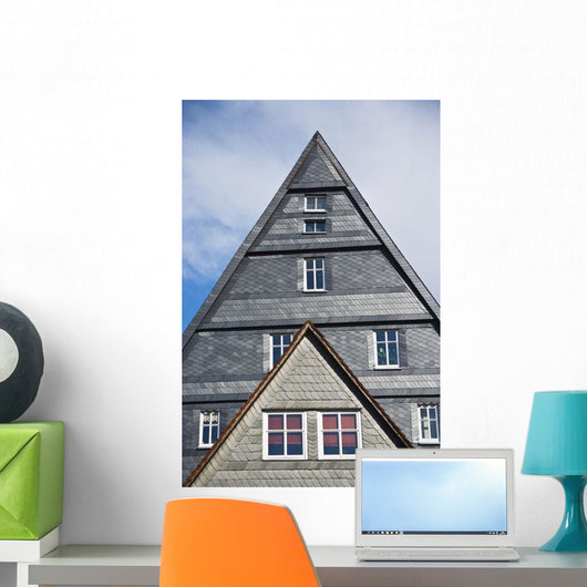 Typical Houses In The Center Of The City Of Marburg In Germany Wall Mural