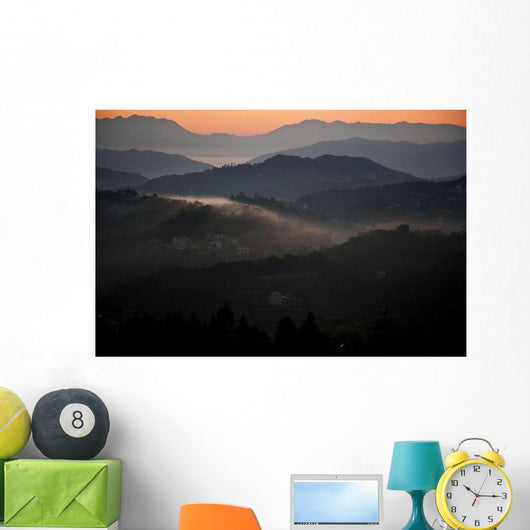 View Of Cinque Terra National Park At Sunrise Liguria, Italy Wall Mural