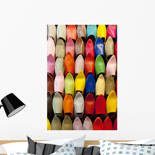 Colourful slippers for sale Wall Mural
