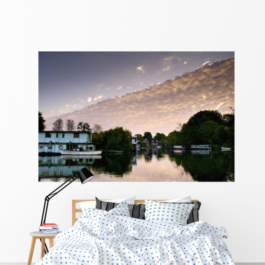 River Thames Cloud, Surrey, Uk Wall Mural
