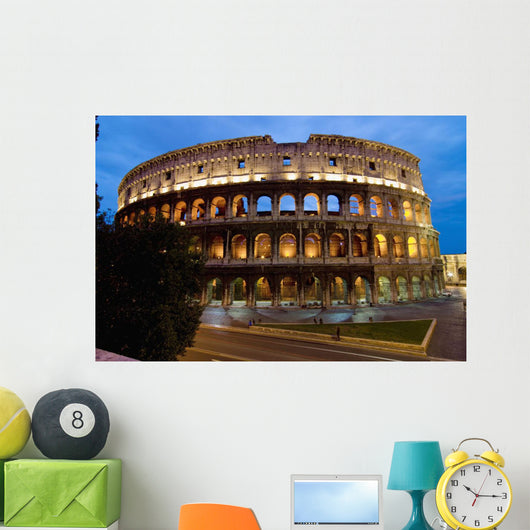 Europe, Italy, Rome, Colosseum Dusk Wall Mural