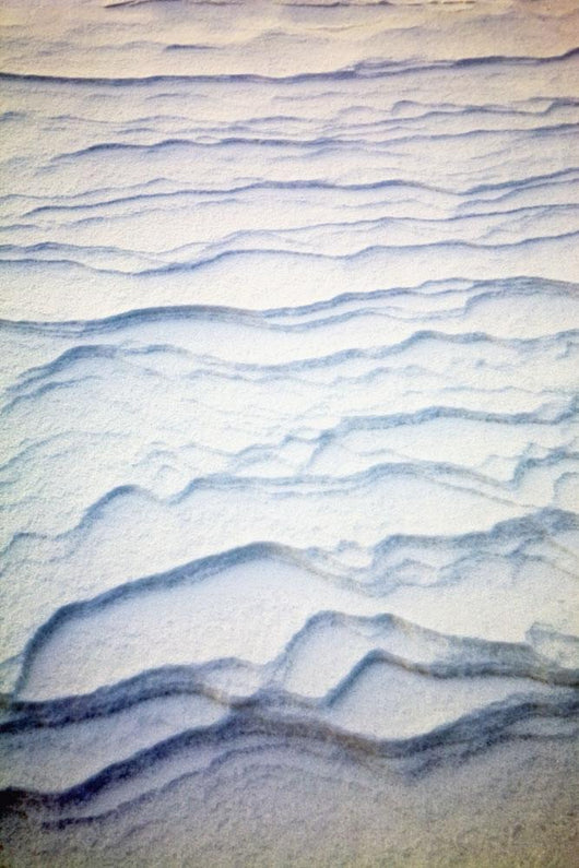 Detail Of Ripple Pattern In The Snow At Sunrise Wall Mural