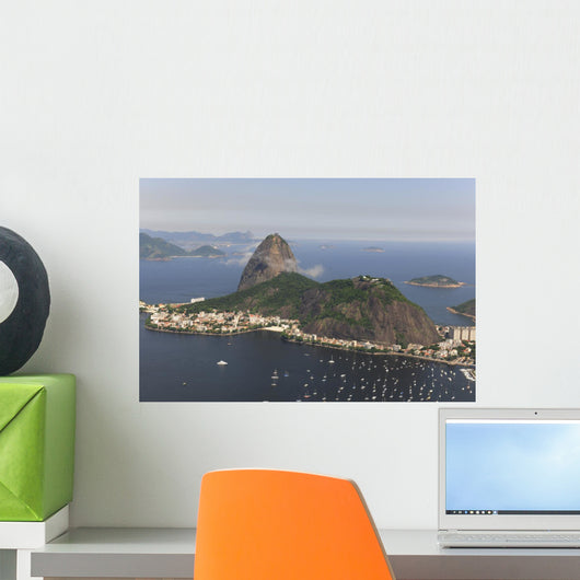 Aerial view of Sugar Loaf in Rio de Janeiro Wall Mural