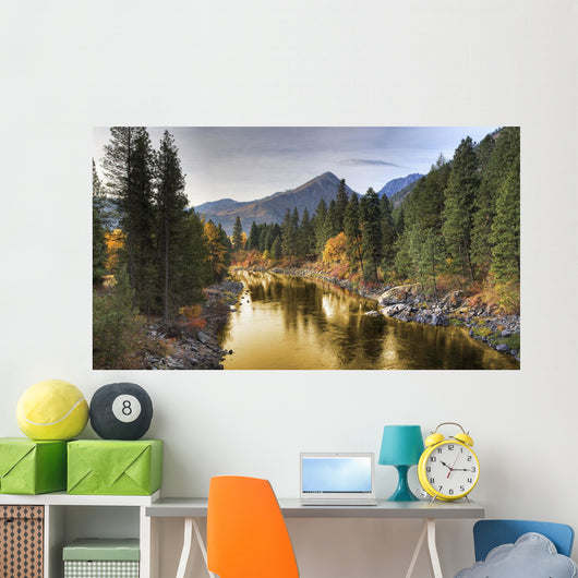 'River Of Gold', Icicle River Wall Mural