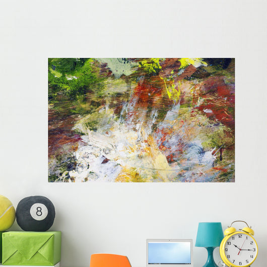 Abstract Oil Painting On Canvas Wall Mural