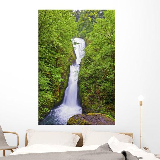 Bridal Veil Falls In Columbia River Gorge National Scenic Area Wall Mural