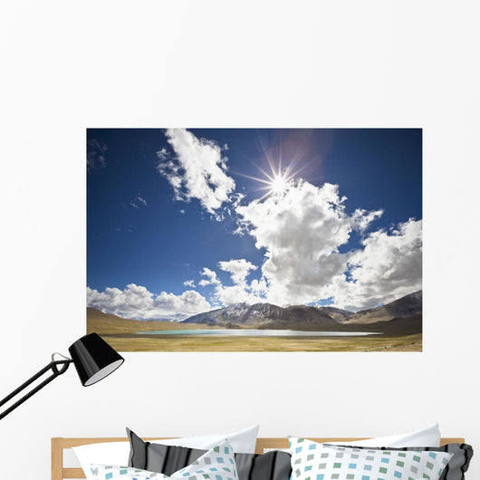 Sunlight And Cloud Over A Lake And Mountains Wall Mural