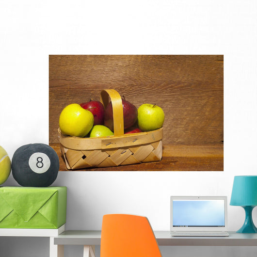Apples In A Basket Wall Mural