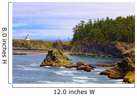 Cape Arago Lighthouse At Shore Acres State Park At Coos Bay Wall Mural