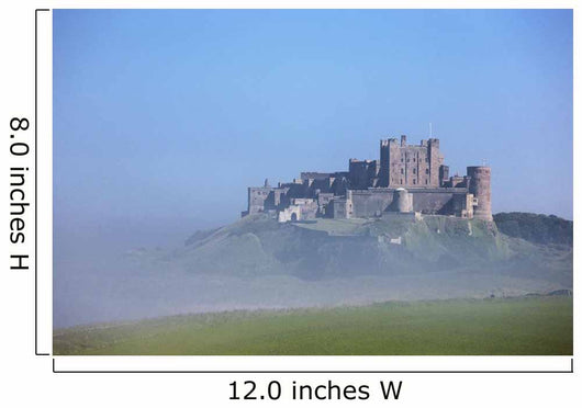 Bamburgh Castle In The Fog Wall Mural