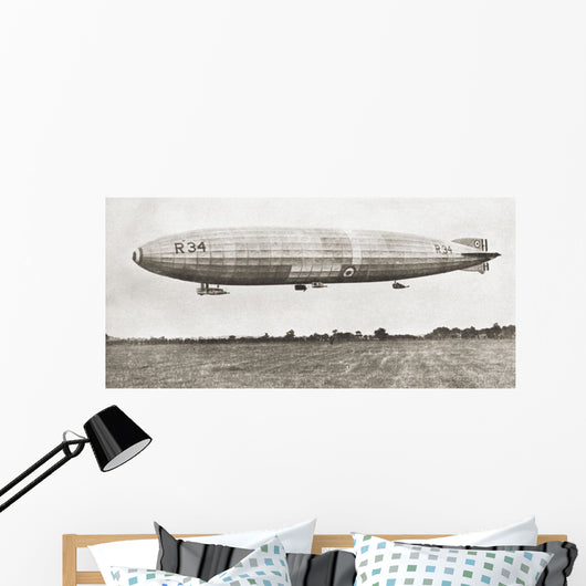 The R34 British Rigid Airship Wall Mural