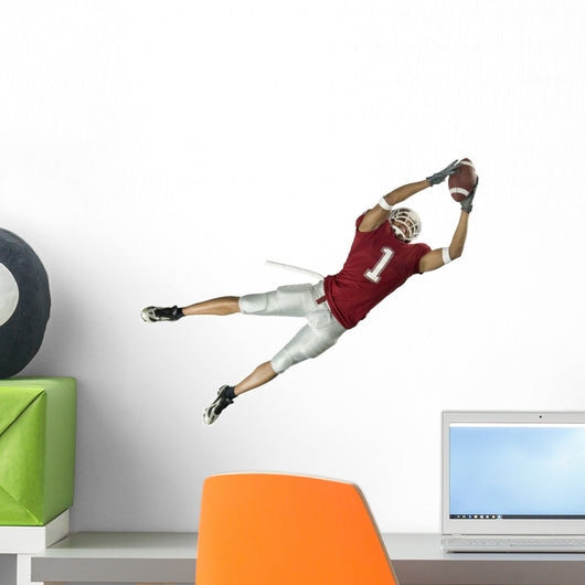 Jump Catching Football Wall Decal