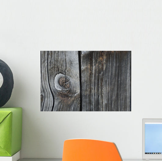 Old Wood On A Barn Wall Mural