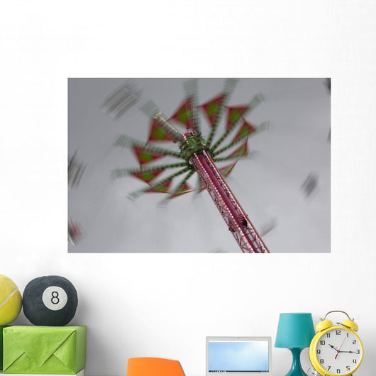 Amusement Ride In The Evening With Lights And Motion Wall Mural