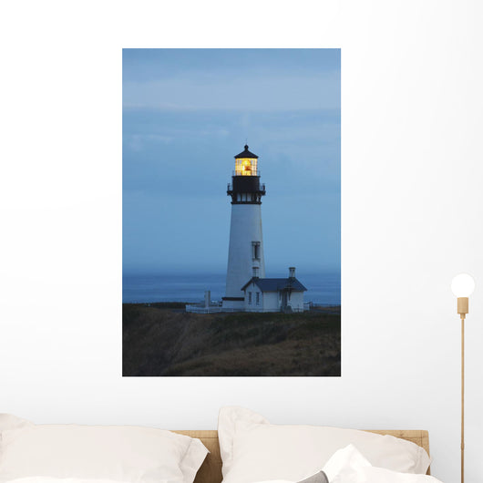 Sunrise At Yaquina Head Lighthouse Wall Mural