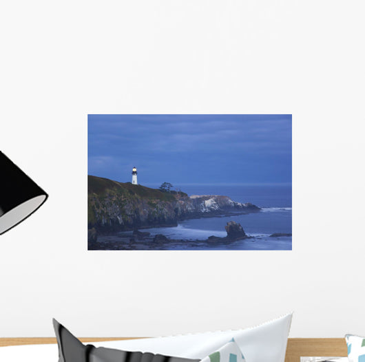 Morning Light Over Yaquina Head Lighthouse Wall Mural