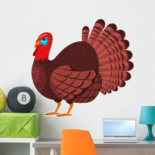 Turkey Vector Cartoon Character Wall Decal