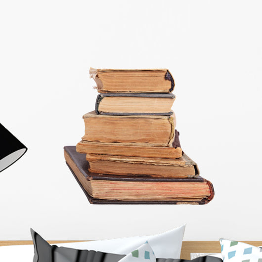 Stack of Antique Books Wall Decal