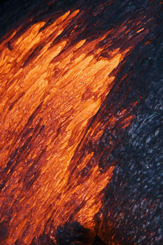 Detail Of Molten Pahoehoe Lava Wall Mural
